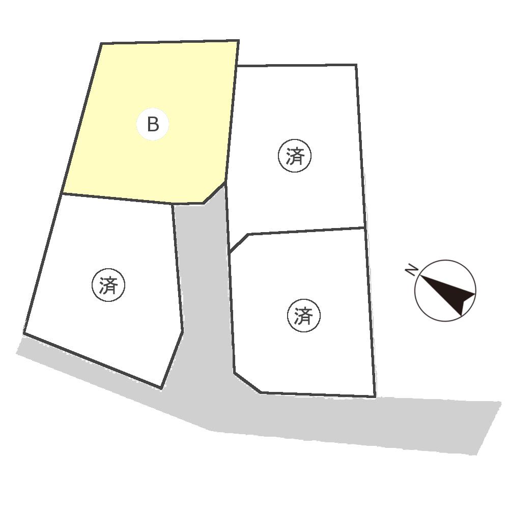 下安井分譲地区画図
