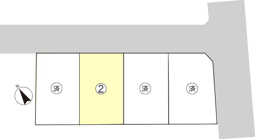 広谷町二才原分譲地区画図